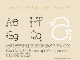 constellation font