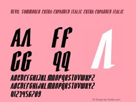 Devil Summoner Extra-Expanded Italic