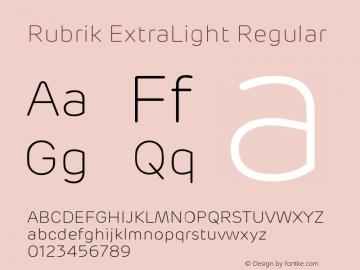 Rubrik ExtraLight