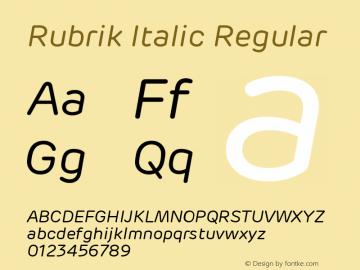 Rubrik Italic