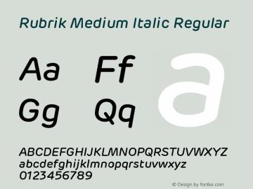 Rubrik Medium Italic