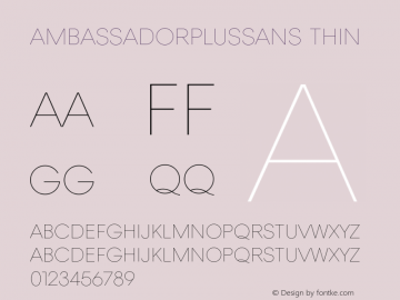 AmbassadorPlusSans