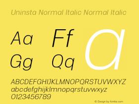 Uninsta Normal Italic