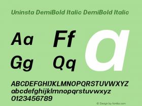 Uninsta DemiBold Italic