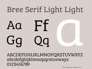 Bree Serif Light