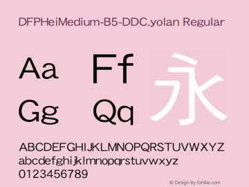 DFPHeiMedium-B5-DDC.yolan