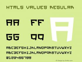 HTML5 Values