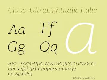 Clavo-UltraLightItalic