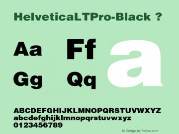 HelveticaLTPro-Black