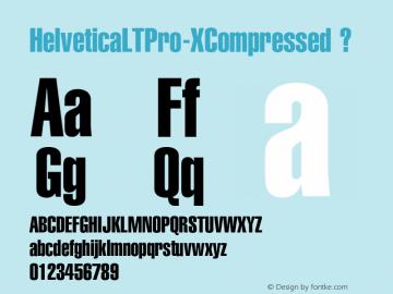 HelveticaLTPro-XCompressed