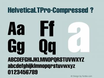HelveticaLTPro-Compressed