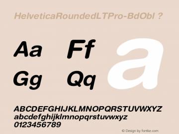 HelveticaRoundedLTPro-BdObl