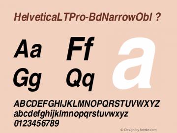 HelveticaLTPro-BdNarrowObl