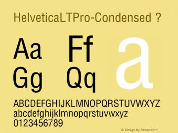 HelveticaLTPro-Condensed