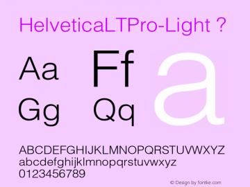 HelveticaLTPro-Light
