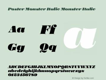 Poster Monster Italic