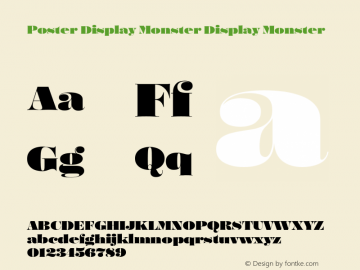 Poster Display Monster