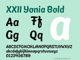 XXII Yonia