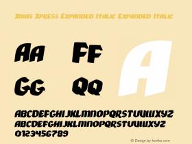 Xmas Xpress Expanded Italic