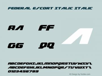 Federal Escort Italic