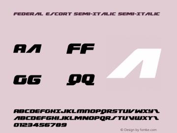 Federal Escort Semi-Italic