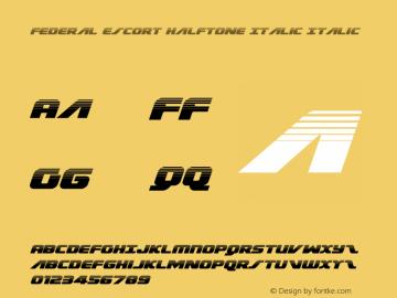 Federal Escort Halftone Italic