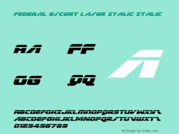 Federal Escort Laser Italic