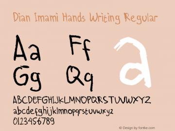 Dian Imami Hands Writing