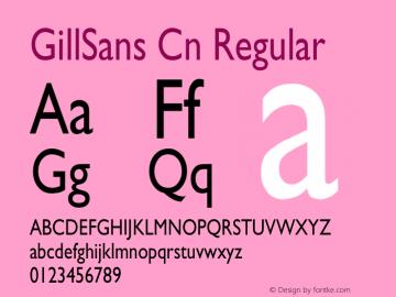 GillSans Cn