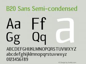 B20 Sans