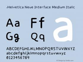 .Helvetica Neue Interface