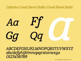 Cabrito Cond Demi Italic