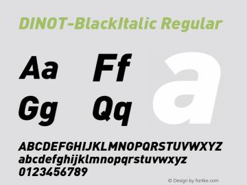 DINOT-BlackItalic