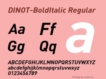 DINOT-BoldItalic