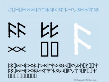 Ice-egg Futhark Runes