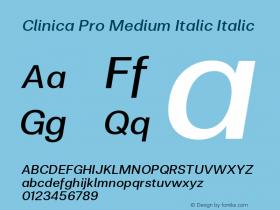Clinica Pro Medium Italic