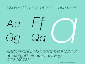 Clinica Pro ExtraLight Italic