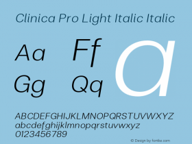 Clinica Pro Light Italic
