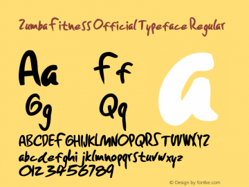 Zumba Fitness Official Typeface