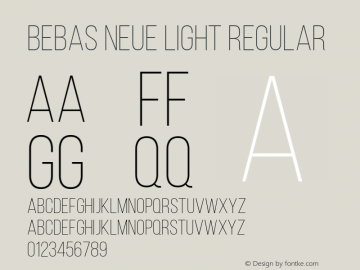 Bebas Neue Light