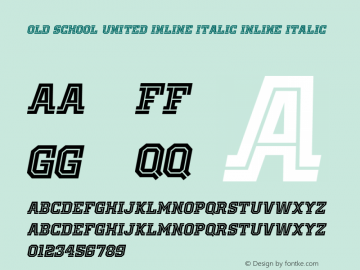 Old School United Inline Italic