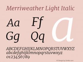 Merriweather Light