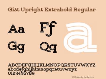 Gist Upright Extrabold