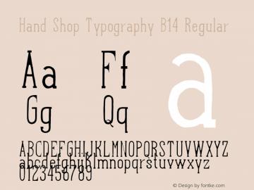 Hand Shop Typography B14