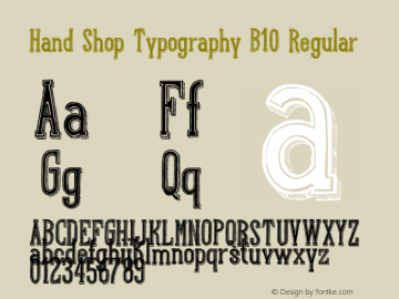 Hand Shop Typography B10