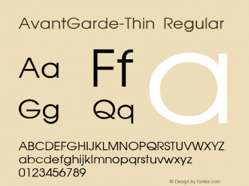 AvantGarde-Thin