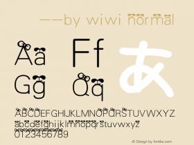 家书体--by wiwi