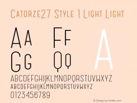 Catorze27 Style 1 Light