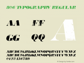 806 Typography