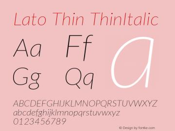 Lato Thin